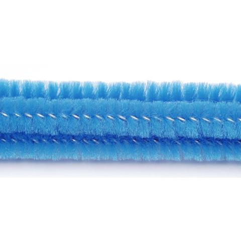 Chenille Stems - 6mm - Medium Blue - 25 pieces