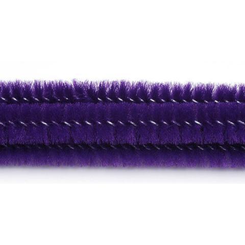 Chenille Stems - 6mm - Purple - 25 pieces