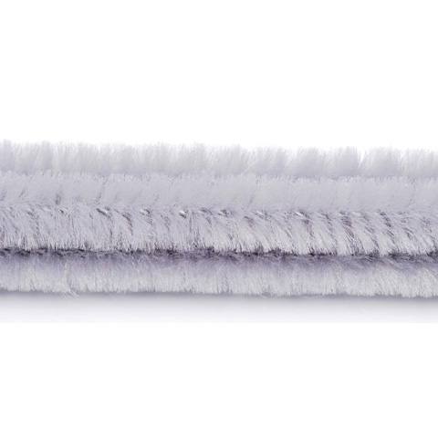 Chenille Stems - 6mm - Gray - 25 pieces
