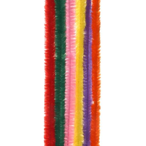 Chenille Stems - 9mm - Multi Color - 15 pieces
