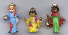 Plastic Wise Men - 2 inch - 3 pieces