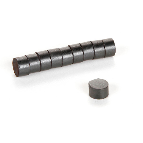 Magnets - Rubber - Round - 8mm - 10 pieces