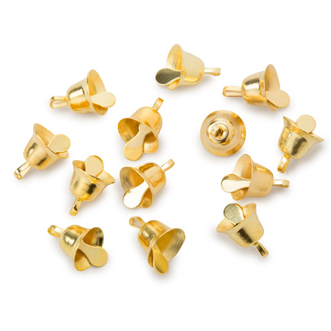 Liberty Bell - Gold - 3/8 inch - 12 pieces