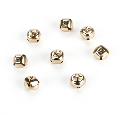 Jingle Bells - Gold - 1/2 inch - 15 pieces