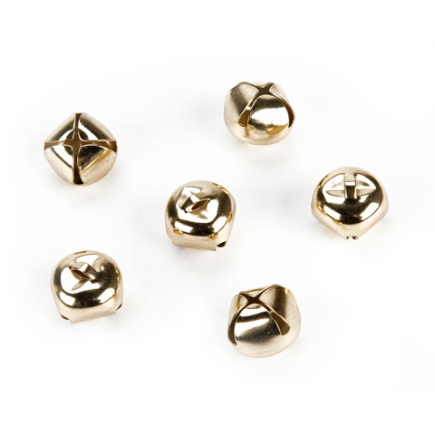 Jingle Bells - Gold - 3/4 inch - 10 pieces