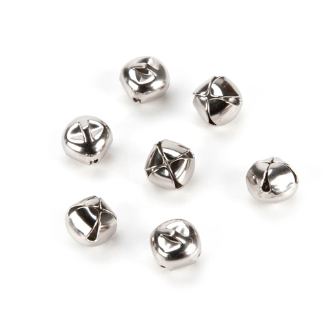 Jingle Bells - Silver - 5/8 inch - 12 pieces