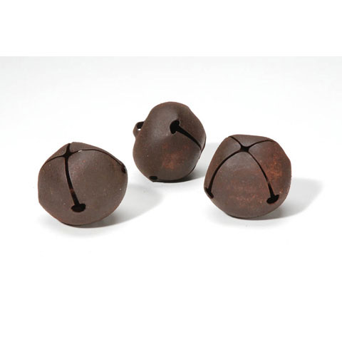 Rusted Jingle Bells- 40mm - 3 pieces