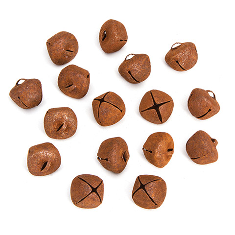 Rusted Jingle Bells Value Pack - 18mm - 45 pieces