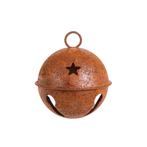 Rusty Bell with Star Cutouts - 65mm