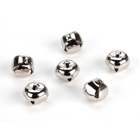Jingle Bells - Silver - 3/8 inch - 72 pieces