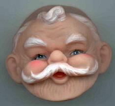 2-1/4 inch - Vintage -  Santa Face