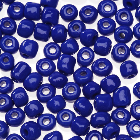 Glass E Beads - Royal Blue - 6/0