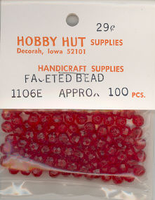 6mm Faceted Bead - Red