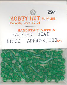 6mm Faceted Bead - Kelly