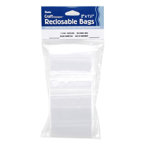 Bags - Reclosable Poly - 1.75 x 1.75 inches - 100 pieces
