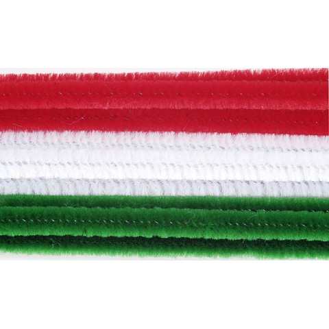 Chenille Stems - 6mm - Christmas - 100 pieces
