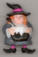 Witch - 2 inch - plastic - 1 piece