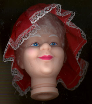 4 inch Mrs. Santa Head