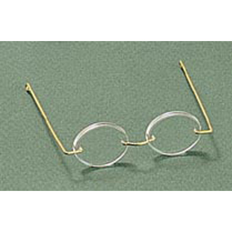 Doll Glasses - Acrylic - Oval Lens - 2.75 inches