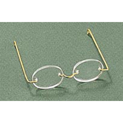 Doll Glasses - Acrylic - Oval Lens - 3 inches