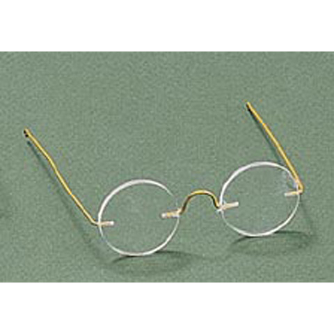 Doll Glasses - Round Lens - 3-3/8 inches