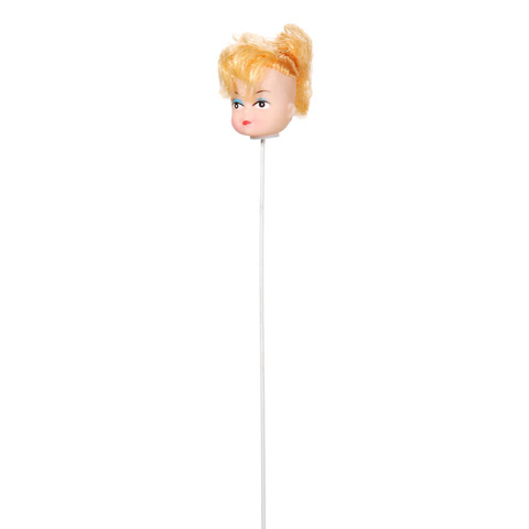 Doll Head Pick - Caucasian with Blonde Hair in Ponytail - 1 inch - 1 piece