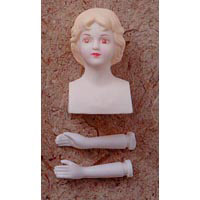 2-1/2 inch Plastic Angel Doll Parts