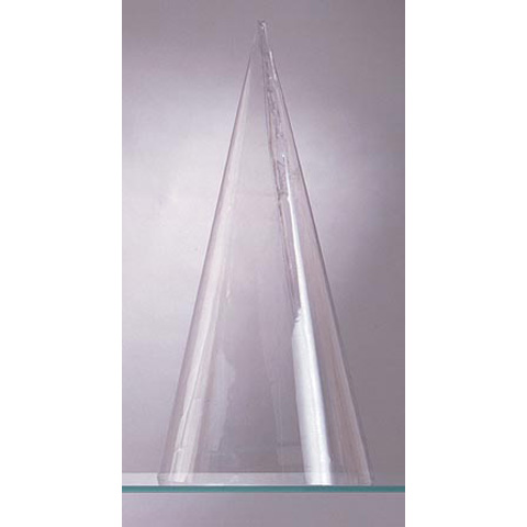 Plastic Cone Doll Body - Clear - 6.75 inches