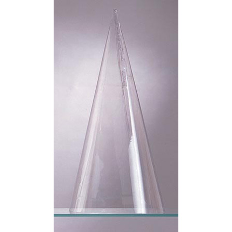 Plastic Cone Doll Body - Clear - 15 inches
