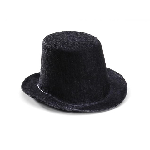 Black Top Hat - 4 x 2 inches