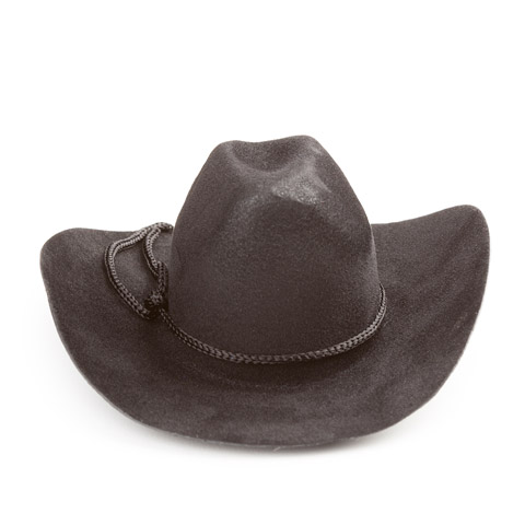 Cowboy Hat - Black - Velvet - 4 inches