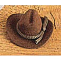 Cowboy Hat - Brown - Velvet - 4 inches