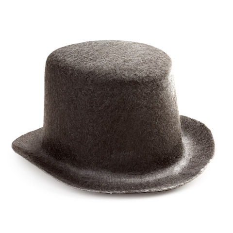 Black Top Hat - Felt - 5.5 inches