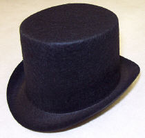 Black Top Hat - Felt - 3 inches 
