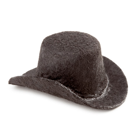 Black Top Hat - Felt - 2 inches
