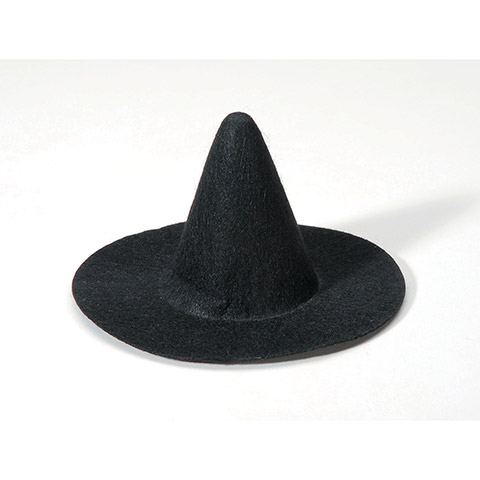 Witch Hat - Black - 4 inches