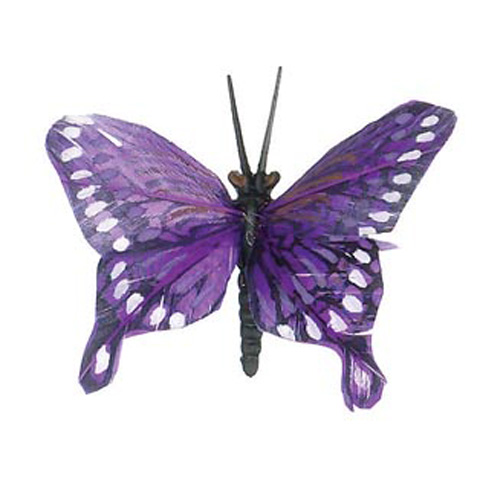Feather Butterfly - Purple - 2-1/2 inches
