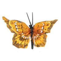 Feather Butterfly - Orange - 2-1/2 inches