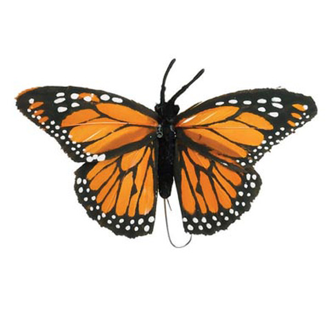 Butterfly - Orange - 4 inches