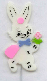 3 in. Bunny on Pick - 12 Pieces