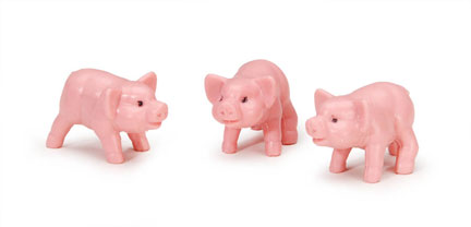 Miniatures - Pig - 1 inch - 8 pieces