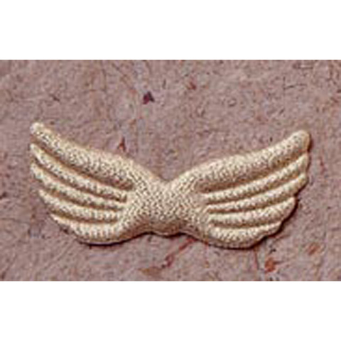 Angel Wings - Fabric - Gold - 3.75 in