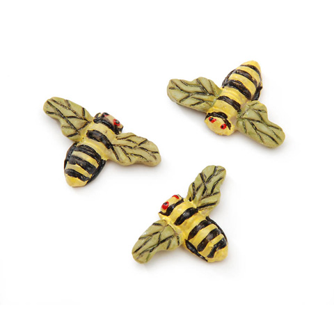 Resin Garden Accent - Bumble Bee - 7/8 inch - 3 pieces