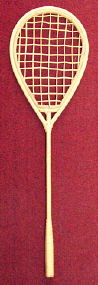 Tennis Racket - Rattan - 27 inch - 1 piece