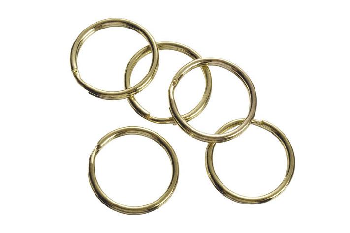 Split Key Ring - Gold - 22mm