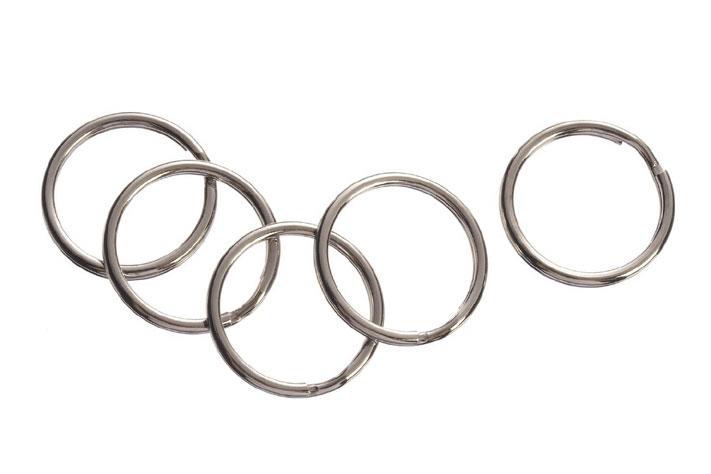 Split Key Ring - Silver - 22mm