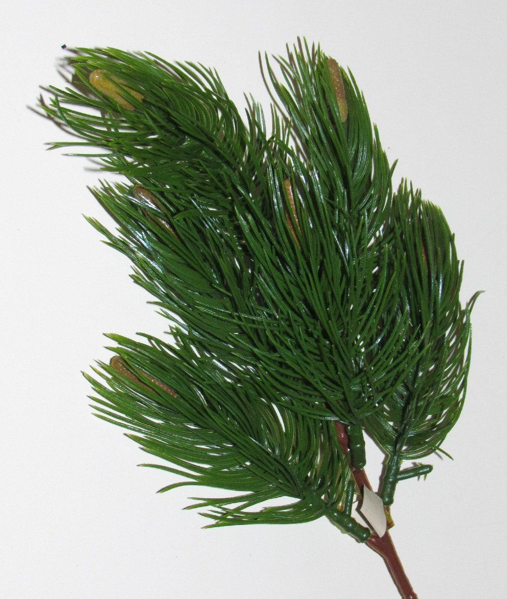 Long Needle Pine - 8 inch with 6 inch stem - Plastic - 12 pieces