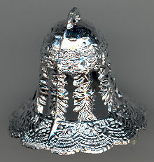 Wedding Bells - Plastic - Silver - 1 inch