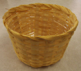 Basket with Liner - 5 inch diameter x 3-1/2 inch high