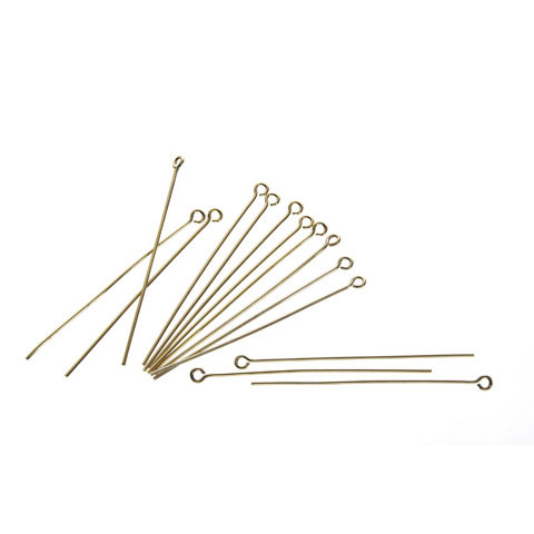 Eye Pins - Gold Plated Brass - 2 inches - 84 pieces - Big Value